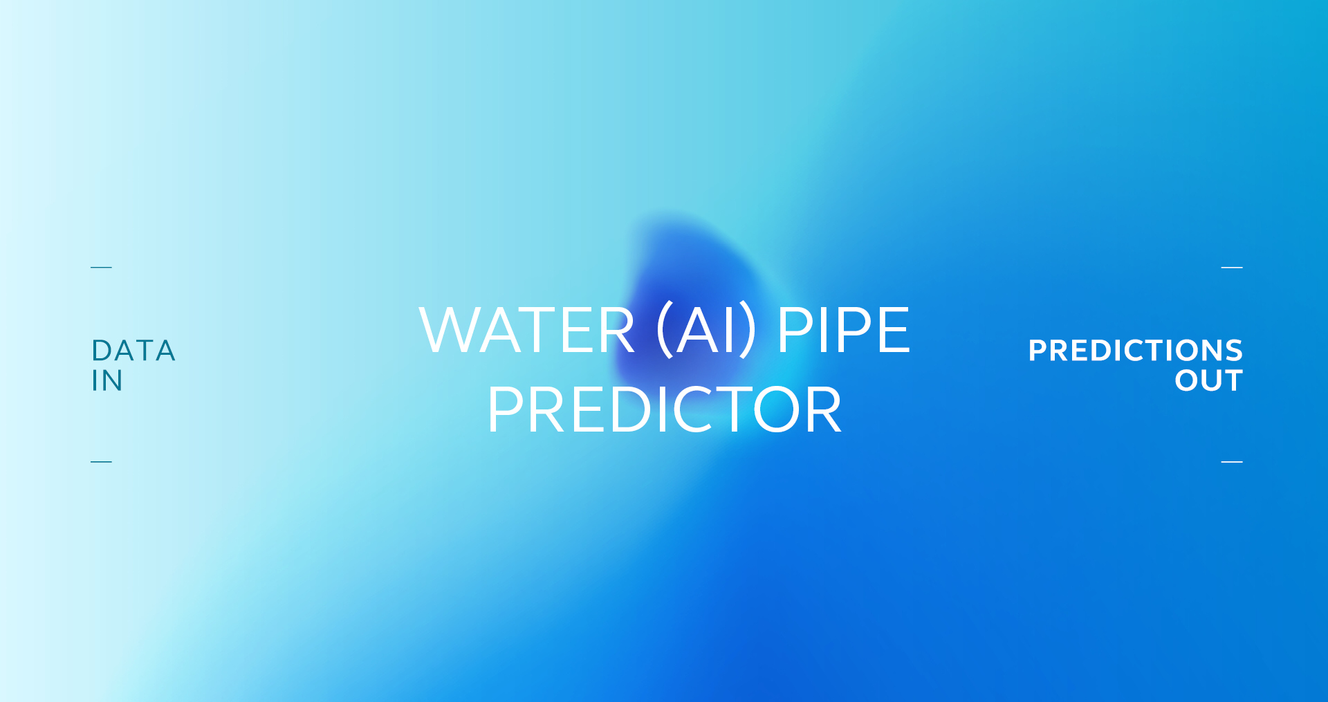 Water AI Pipe Predictor Banner